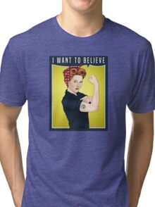 Scully the riveter Tri-blend T-Shirt
