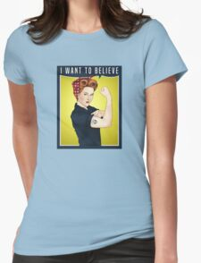 Scully the riveter Womens Fitted T-Shirt