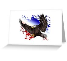 Bald Eagle - Red, White & Blue Greeting Card