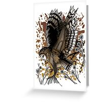 Barn Owl Stance Greeting Card