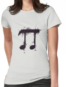 Pi note Womens Fitted T-Shirt