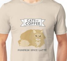 Cats as Coffee: Pumpkin Spice Latte Unisex T-Shirt