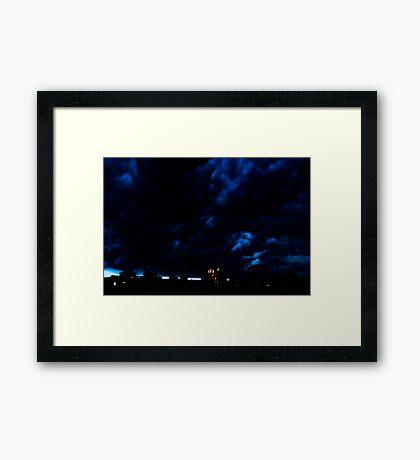Storm Fury Framed Print