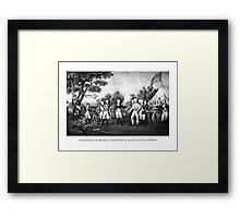 The Surrender of General Burgoyne Framed Print