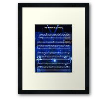 The Mirror - Blue Night - Spring Awakening Framed Print