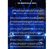 The Mirror - Blue Night - Spring Awakening Photographic Print