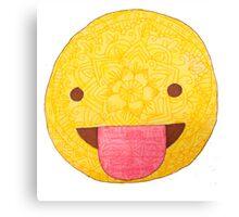 Silly Emoji Canvas Print