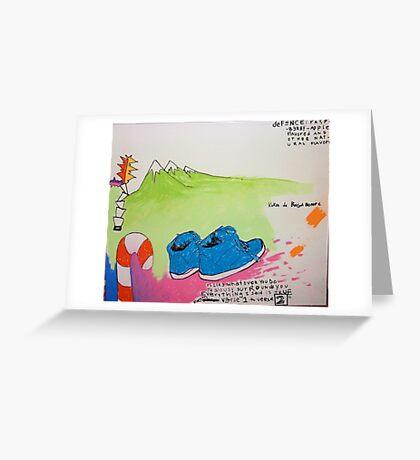 Blue Shooz Greeting Card