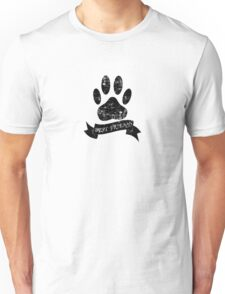 Distressed Dog Paw With Ribbon Unisex T-Shirt