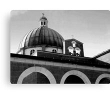Church of the Beatitudes ~ Black & White Canvas Print