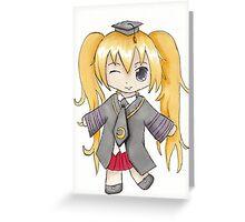 koro sensei Greeting Card