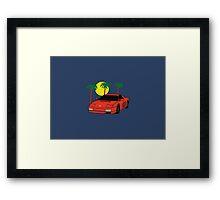 80's Supercar  Framed Print