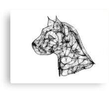 Scribbler Pit Bull Canvas Print