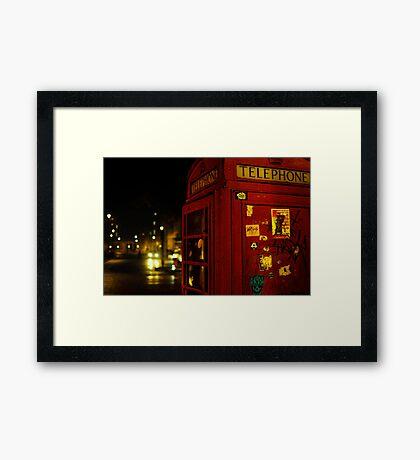 Phone Box London Framed Print