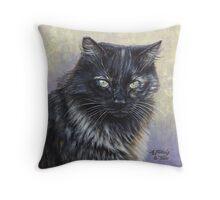 Reece - Feral Cat at Rockaway Throw Pillow