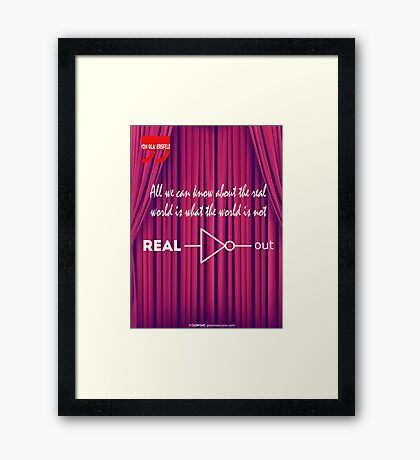 Knowing What To Discard Is Knowledge Framed Print