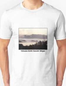 foggy sunrise, Columbia River, Rainier Oregon 2 T-Shirt