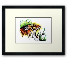 Tiger In The Wild Framed Print