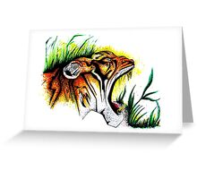 Tiger In The Wild Greeting Card