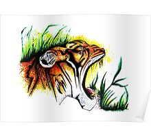Tiger In The Wild Poster