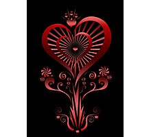 Heart Flower Photographic Print