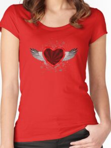 Wing Heart Women's Fitted Scoop T-Shirt