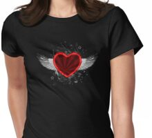 Wing Heart Womens Fitted T-Shirt