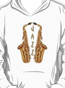 Jazz Saxophone Gold T-Shirt