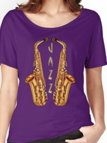 Jazz Saxophone Gold Women's Relaxed Fit T-Shirt