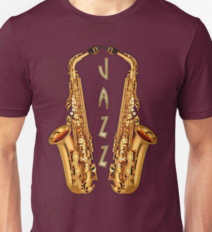Jazz Saxophone Gold Unisex T-Shirt