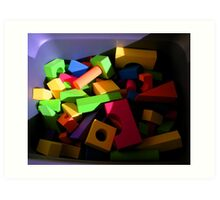"""Blocks"" Art Print"