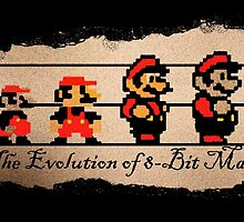 The Evolution of 8-bit Man by SMALLBRUSHES
