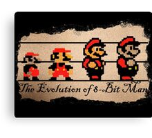 The Evolution of 8-bit Man Canvas Print