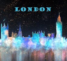 London Skyline With Banner by bill holkham