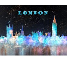London Skyline With Banner Photographic Print
