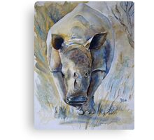 Rhino Sketch Canvas Print