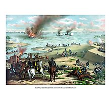 Battle Between The Monitor And Merrimac Photographic Print