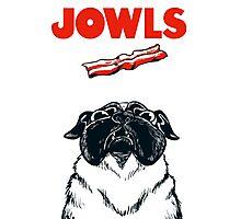 JOWLS Pug Movie Poster Parody Photographic Print