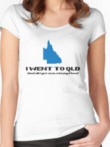 QLD Floods 2011 Women's Fitted Scoop T-Shirt