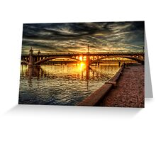 The Golden Hour  Greeting Card