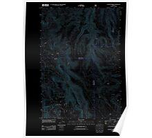 USGS Topo Map Oregon Lefevre Prairie 20110816 TM Inverted Poster