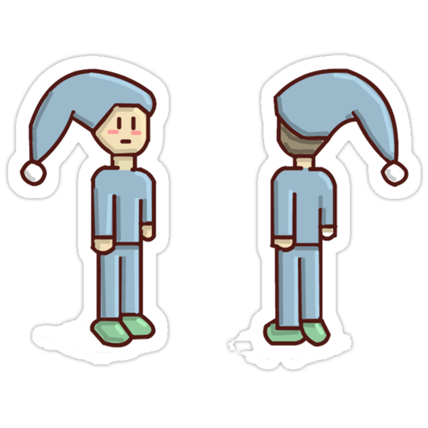 Pixel Person Sleepy by machinimaboy