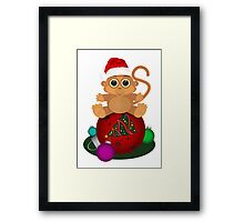Christmas Monkey Framed Print