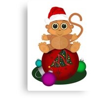 Christmas Monkey Canvas Print