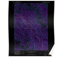 USGS Topo Map Oregon Jim White Ridge 280327 1993 24000 Inverted Poster