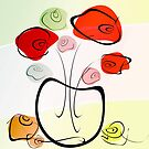 rose bouquet  by rosalin