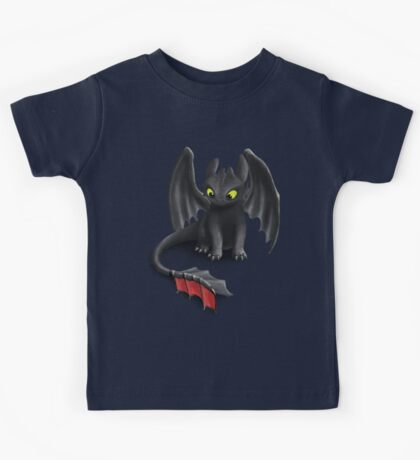 Toothless, Night Fury Inspired Dragon. Kids Tee