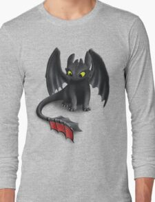 Toothless, Night Fury Inspired Dragon. Long Sleeve T-Shirt