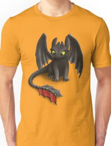 Toothless, Night Fury Inspired Dragon. Unisex T-Shirt