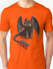 Toothless, Night Fury Inspired Dragon. Unisex T-Shirt